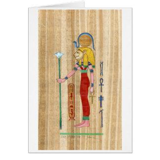 Sekhmet Papyrus Card