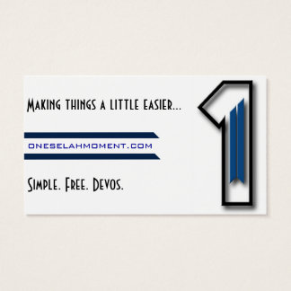 Selah Hand-out Cards Business Card Template