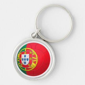 Selecção das Quinas - Portugal Football Silver-Colored Round Key Ring
