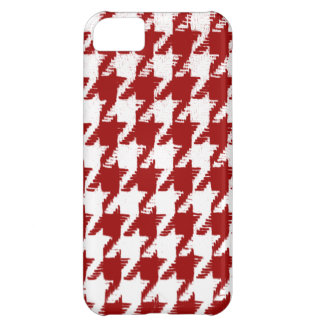Select a Color and White Houndstooth iPhone 5C Covers
