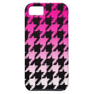 Select A Color Fade to White Houndstooth iPhone 5 Case