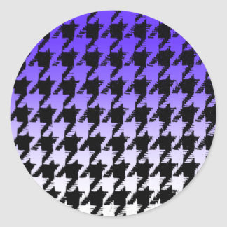 Select A Color Fade to White Houndstooth Sticker