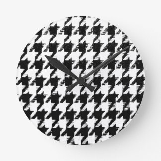 Select Your Color Houndstooth Pattern Clock