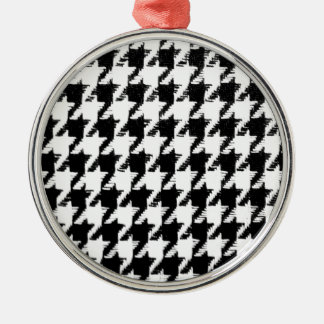 Select Your Color Houndstooth Pattern Christmas Tree Ornament