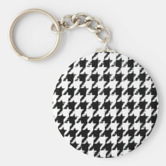 Select Your Color Houndstooth Pattern Key Chains