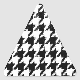 Select Your Color Houndstooth Pattern Triangle Sticker