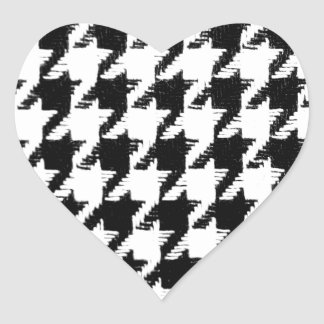 Select Your Color Houndstooth Pattern Heart Stickers
