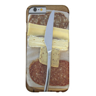 Selection of gourmet cheeses and cut meats iPhone 6 case