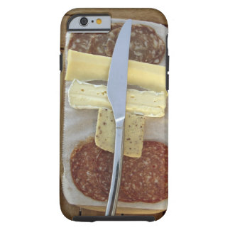 Selection of gourmet cheeses and cut meats tough iPhone 6 case