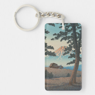 Selection of Views of the Tokaido, Dusk At Taganou Double-Sided Rectangular Acrylic Key Ring