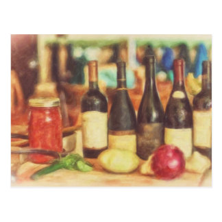 Selection of Wines by Shawna Mac Postcard