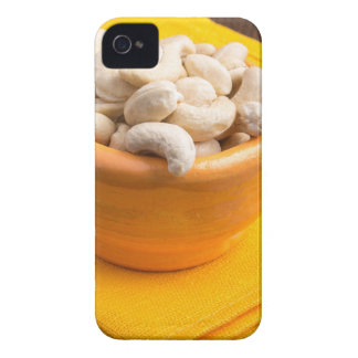 Selective focus on raw cashew nuts closeup Case-Mate iPhone 4 cases