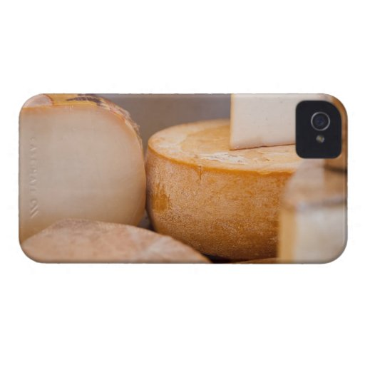 Selective focus photograph of cheeses in cheese iPhone 4 cover