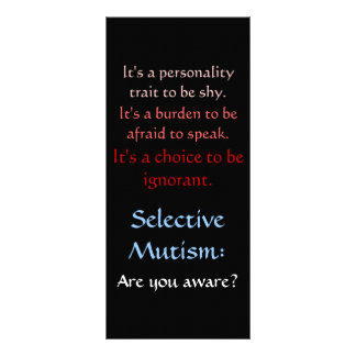 Selective Mutism Awareness Rack Card