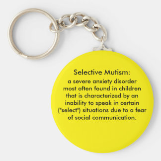 Selective Mutism Definition Basic Round Button Key Ring