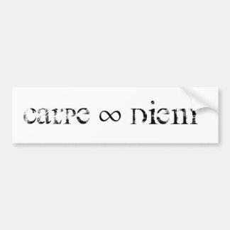Self-adhesive Diem carpus Bumper Sticker
