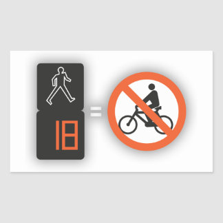 Self-adhesive exclusive Fire with the pedestrians, Rectangular Sticker