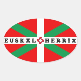 "Self-adhesive Flag Basque ""ikkurina Oval Stickers"