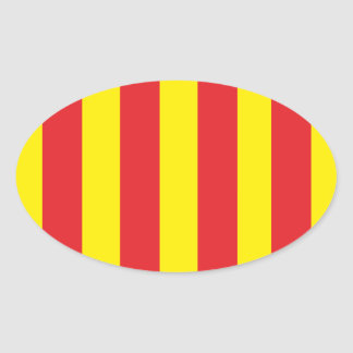 Self-adhesive Flag Of Provence Oval Sticker