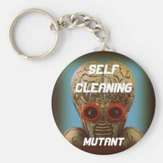 Self Cleaning Mutant Basic Round Button Key Ring