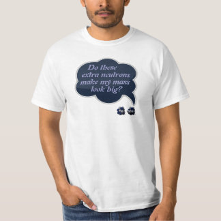 Self-Conscious Isotope T-shirts
