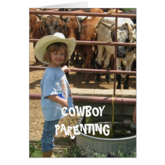 Self Defense Western Style - Cowboy Parenting Card