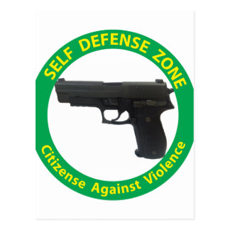 Self Defense Zone-Violence Postcard