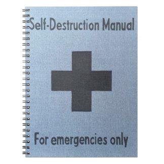 self destruction notebook
