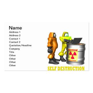 Self Destruction Pack Of Standard Business Cards