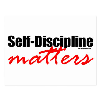 Self-Discipline Matters Postcard