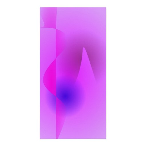 Self-Effacing Abstract Art Personalized Photo Card