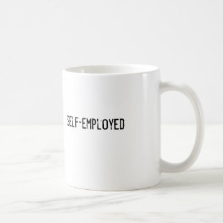 self-employed basic white mug