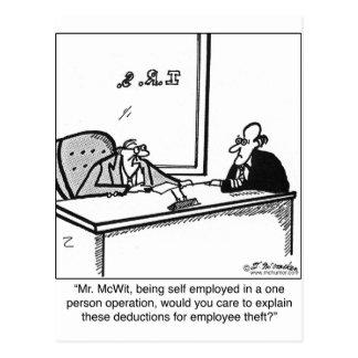 Self Employed & Employee Theft Postcard