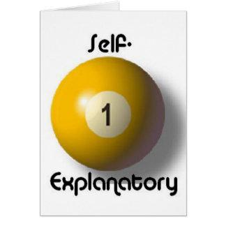 Self-explanatory Greeting Card