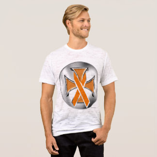 Self-Harm Iron Cross Men's Burnout T-Shirt