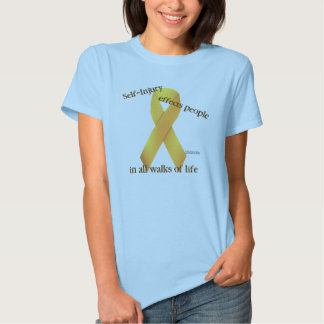 Self-Injury Ribbon Ladies Babydoll Shirt