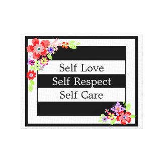 """Self Love"" Gorgeous Floral Canvas. Canvas Print"