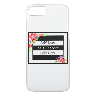 """""""Self Love"""" Gorgeous Floral iPhone Case. iPhone 8/7 Case"""