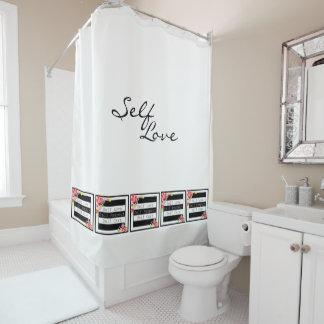 """Self Love"" Gorgeous Floral Shower Curtain. Shower Curtain"