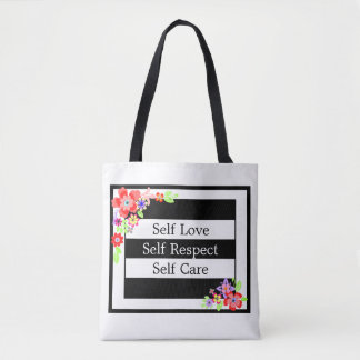 """Self Love"" Gorgeous Floral Tote Bag."