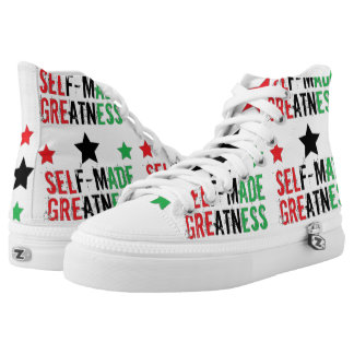 Self Made Greatness Printed Shoes