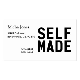 Self Made Independent Double-Sided Standard Business Cards (Pack Of 100)