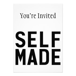 Self Made Independent Personalized Invitation