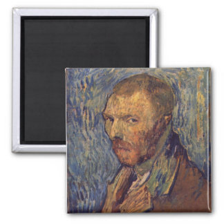 Self-mutilated ear portrait - Van Gogh Square Magnet