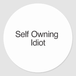 Self Owning Idiot Round Stickers