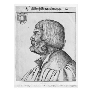 Self portrait, 1527 postcard