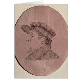 Self Portrait, 1824 Card