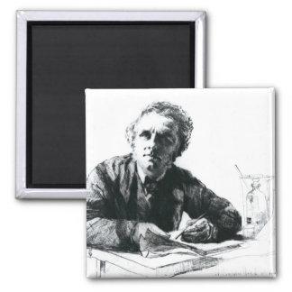 Self Portrait, 1862 Square Magnet