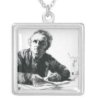 Self Portrait, 1862 Square Pendant Necklace