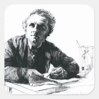Self Portrait, 1862 Square Sticker